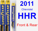 Front & Rear Wiper Blade Pack for 2011 Chevrolet HHR - Premium
