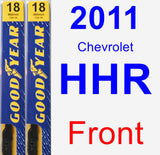 Front Wiper Blade Pack for 2011 Chevrolet HHR - Premium