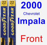 Front Wiper Blade Pack for 2000 Chevrolet Impala - Premium