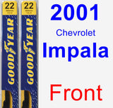 Front Wiper Blade Pack for 2001 Chevrolet Impala - Premium