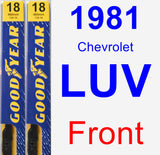 Front Wiper Blade Pack for 1981 Chevrolet LUV - Premium