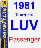 Passenger Wiper Blade for 1981 Chevrolet LUV - Premium