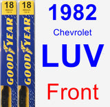 Front Wiper Blade Pack for 1982 Chevrolet LUV - Premium