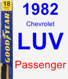 Passenger Wiper Blade for 1982 Chevrolet LUV - Premium