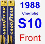 Front Wiper Blade Pack for 1988 Chevrolet S10 - Premium