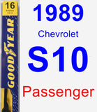 Passenger Wiper Blade for 1989 Chevrolet S10 - Premium