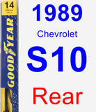 Rear Wiper Blade for 1989 Chevrolet S10 - Premium