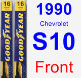 Front Wiper Blade Pack for 1990 Chevrolet S10 - Premium