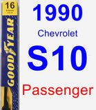 Passenger Wiper Blade for 1990 Chevrolet S10 - Premium
