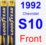 Front Wiper Blade Pack for 1992 Chevrolet S10 - Premium