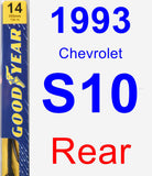 Rear Wiper Blade for 1993 Chevrolet S10 - Premium