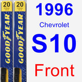 Front Wiper Blade Pack for 1996 Chevrolet S10 - Premium
