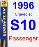 Passenger Wiper Blade for 1996 Chevrolet S10 - Premium