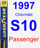 Passenger Wiper Blade for 1997 Chevrolet S10 - Premium