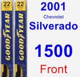 Front Wiper Blade Pack for 2001 Chevrolet Silverado 1500 - Premium