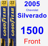 Front Wiper Blade Pack for 2005 Chevrolet Silverado 1500 - Premium