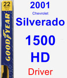 Driver Wiper Blade for 2001 Chevrolet Silverado 1500 HD - Premium