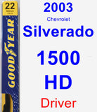 Driver Wiper Blade for 2003 Chevrolet Silverado 1500 HD - Premium