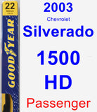 Passenger Wiper Blade for 2003 Chevrolet Silverado 1500 HD - Premium