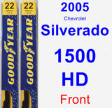 Front Wiper Blade Pack for 2005 Chevrolet Silverado 1500 HD - Premium