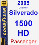 Passenger Wiper Blade for 2005 Chevrolet Silverado 1500 HD - Premium