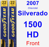 Front Wiper Blade Pack for 2007 Chevrolet Silverado 1500 HD - Premium