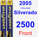 Front Wiper Blade Pack for 2005 Chevrolet Silverado 2500 - Premium