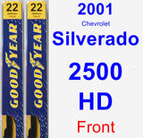 Front Wiper Blade Pack for 2001 Chevrolet Silverado 2500 HD - Premium
