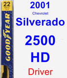 Driver Wiper Blade for 2001 Chevrolet Silverado 2500 HD - Premium
