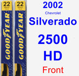 Front Wiper Blade Pack for 2002 Chevrolet Silverado 2500 HD - Premium