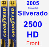 Front Wiper Blade Pack for 2005 Chevrolet Silverado 2500 HD - Premium