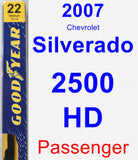 Passenger Wiper Blade for 2007 Chevrolet Silverado 2500 HD - Premium