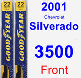 Front Wiper Blade Pack for 2001 Chevrolet Silverado 3500 - Premium