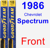 Front Wiper Blade Pack for 1986 Chevrolet Spectrum - Premium