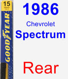 Rear Wiper Blade for 1986 Chevrolet Spectrum - Premium