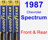 Front & Rear Wiper Blade Pack for 1987 Chevrolet Spectrum - Premium