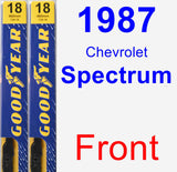 Front Wiper Blade Pack for 1987 Chevrolet Spectrum - Premium