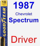 Driver Wiper Blade for 1987 Chevrolet Spectrum - Premium