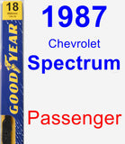 Passenger Wiper Blade for 1987 Chevrolet Spectrum - Premium
