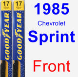 Front Wiper Blade Pack for 1985 Chevrolet Sprint - Premium