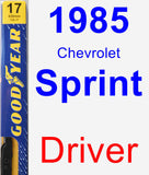Driver Wiper Blade for 1985 Chevrolet Sprint - Premium