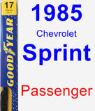 Passenger Wiper Blade for 1985 Chevrolet Sprint - Premium