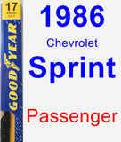 Passenger Wiper Blade for 1986 Chevrolet Sprint - Premium
