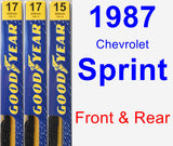 Front & Rear Wiper Blade Pack for 1987 Chevrolet Sprint - Premium