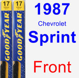 Front Wiper Blade Pack for 1987 Chevrolet Sprint - Premium
