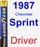 Driver Wiper Blade for 1987 Chevrolet Sprint - Premium