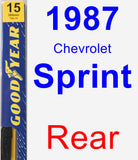 Rear Wiper Blade for 1987 Chevrolet Sprint - Premium
