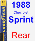 Rear Wiper Blade for 1988 Chevrolet Sprint - Premium