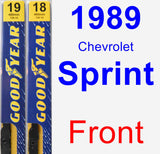 Front Wiper Blade Pack for 1989 Chevrolet Sprint - Premium