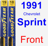 Front Wiper Blade Pack for 1991 Chevrolet Sprint - Premium